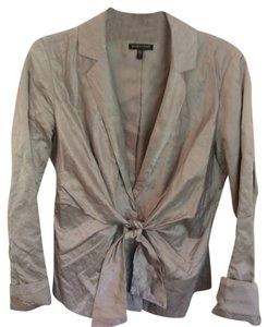 Eileen Fisher Italian silver metallic cotton/rayon Jacket