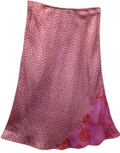 Pinko Silk Italy Soft Skirt Pink - flowers