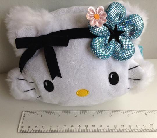 Hello Kitty Cat Charmy Charmmy Collectible Cute Flower Hibiscus Lolita Sanrio Wonderland White Clutch