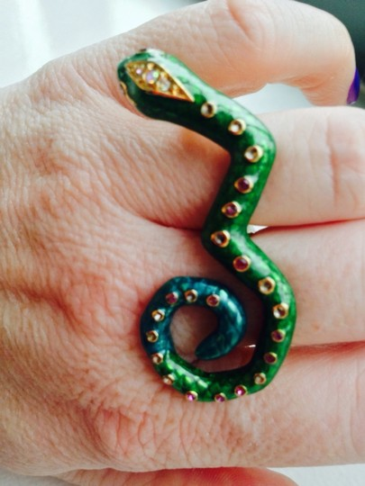 Betsey Johnson Betsey Johnson Double Ring Snake
