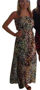 Multi Animal Maxi Dress by Topshop Print Leopard
