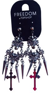 TopShop Top Shop Black Chandelier Earrings