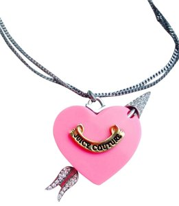 Juicy Couture Large Juicy Couture Pink Heart Necklace