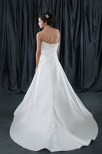 Alfred Sung Ivory Satin 6825 Formal Wedding Dress Size 6 (S)