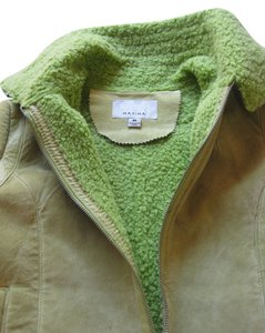 Wilsons Leather Leather Casual Lime Suede Vintage Mint/lime green Leather Jacket