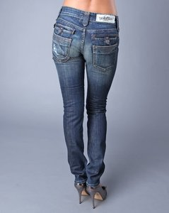 Taverniti So Jeans Vintage Distressed Straight Leg Jeans-Medium Wash