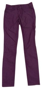wit & wisdom Colored Denim Nordstroms And Berry Colored Skinny & Size 0 Stretch Denim Skinny Jeans-Coated