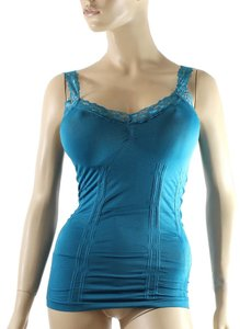 Other Cami CAMISOLE Lace Strap Tank Tops Solid Color One Size Teal