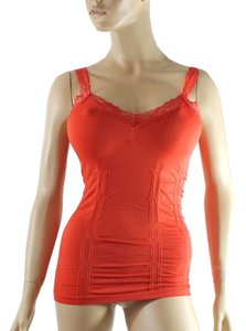 Other Cami CAMISOLE Lace Strap Tank Tops Solid Color One Size Orange
