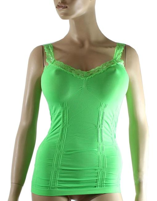 Other Cami CAMISOLE Lace Strap Tank Tops Solid Color One Size Neon Green