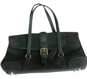 Coach Suede Small Satchel in Smokey blue