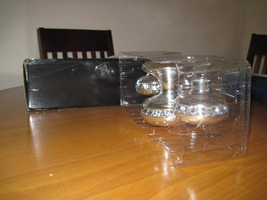 Silver Unity Candle Holder With Rhinestones