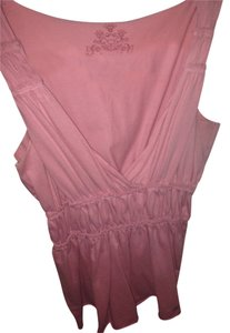 Fossil Vneck Blouse Cotton Summer Top Pink