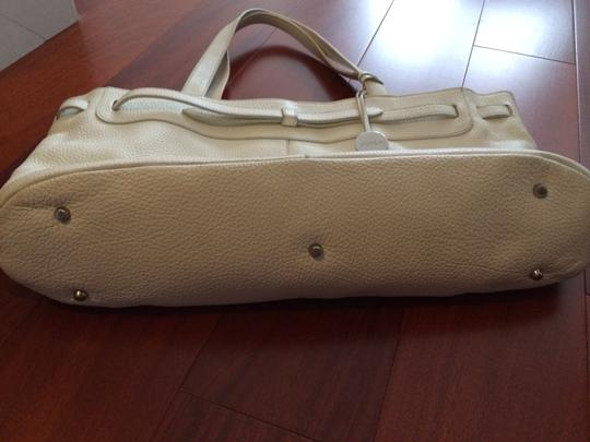 Furla Pebbled Leather Italy Leather Purse Purse Handbag Tote in White