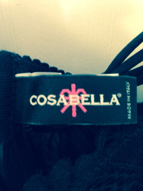 Cosabella Babydoll Lingerie Underwire Made In Italy Top Black
