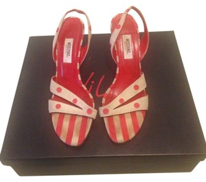 Moschino Cream & red polka dots Sandals