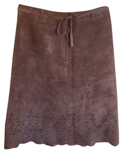 Isaac Mizrahi for Target- LEATHER SKIRT Brown Skirt leather