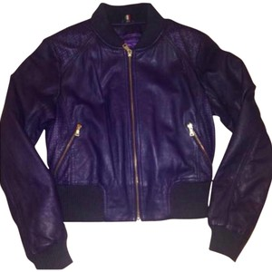 Knowles & Carter Purple Leather Jacket