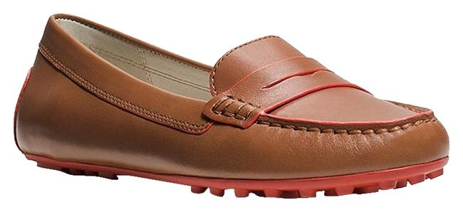Item - Brown/Red Daisy Driving Moccasins Flats Size US 7.5 Regular (M, B)