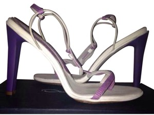 Calvin Klein Collection White and Purple Sandals
