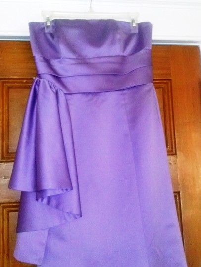 Alfred Angelo Purple Formal Bridesmaid/Mob Dress Size 8 (M)