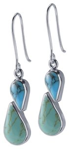 Other Sterling Silver Turquoise Double-Drop Earrings