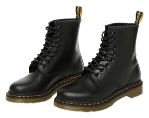 Dr. Martens Combat Lace Up Grunge Lace Up Leather Docs Black Boots