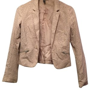 H&M Peach with blk dots Blazer