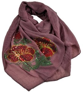 Other New Sequin Flower Fashion Scarf