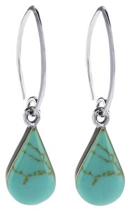 Sterling Silver Pear-Shaped Turquoise Earrings