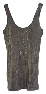 Express Top Grey Sequin