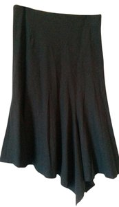 Elevenses Asymetrical Lined Skirt Black