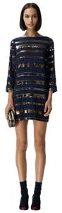 Club Monaco Shift Striped Sequin Dress