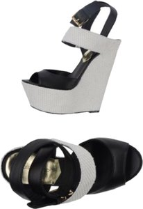 Dsquared2 Black and White Wedges