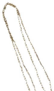 1928 Matte Gold/pewter Double Strand Necklace With CZs