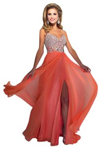 Mac Duggal Couture Prom Size 6 Chifon Sequance Sleeveless Evening Dress