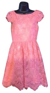 Alicia & Olivia Pink Icy Lace Dress Dress