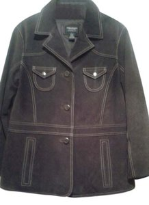 American Eagle Outfitters chocolate Leather Jacket