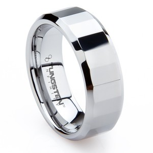 Men's New Tungsten Wedding Band Ring Comfort Fit Marsala