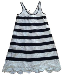 BCBGMAXAZRIA Lace Striped Tunic Dress