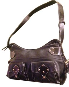 Aqua Madonna Womens Brown Leather Calf Hair Leopard Backpack Purse Shoulder Bag