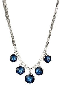 Kenneth Cole Kenneth Cole Faceted Blue Necklace Round Stones K05913