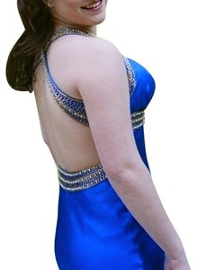 Jovani Evening Gown Floorlength Long Blue Prom Gala Event Dress