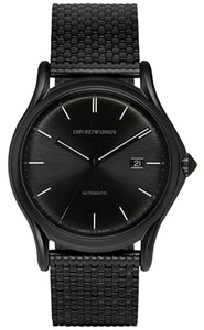 Emporio Armani Emporio Armani Men's Swiss Automatic Black Ion-Plated Stainless Steel Bracelet Watch 42mm ARS3014