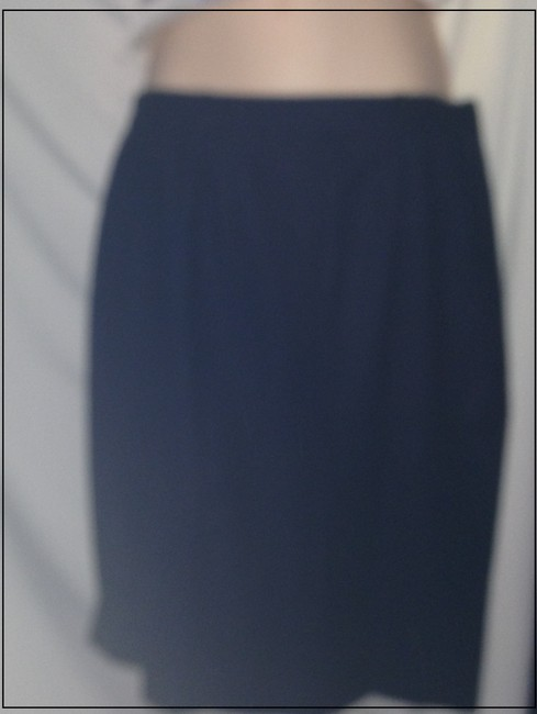 Aquascutum Classic Elegant Pencil Skirt navy blue