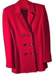 St. John Red/Black/gold Blazer