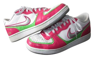 Nike Sneaker Pink Leather Pink, White, Green, Silver Athletic