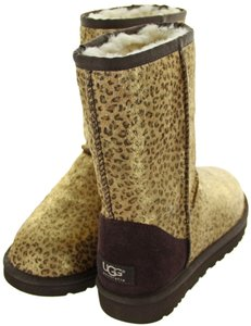 UGG Australia Suede Shearling Bailey Button Leopard Exotic LMTL Boots