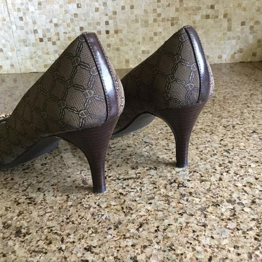 Etienne Aigner Heel Open-toe Heel Brown Pumps
