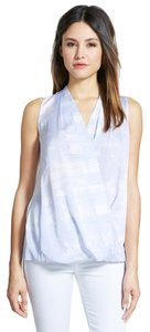 Classiques Entier Wrap Heather Silk Faux Stretch Top HEATHER BLUE